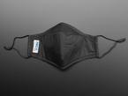 Black mask shown laying flat