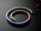 NeoPixel RGBW Neon-like Flex Strip, lighting up rainbow