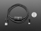 Cable next to quarter for size comparison