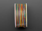 Profile of spool showing many colored wires