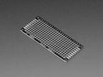 Angled shot of single Universal Proto-board PCB 3cm x 7cm.