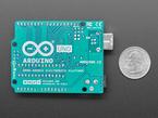 Bottom detail of Arduino showing silkscreen