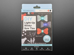 DIY Light Up Blinky Bow Ties Kit - 10 Pack outer packaging