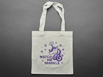 unassembled Kit tote with purple unicorn imagery