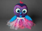 Completed DIY Twinkling Tutu Light-Up Kit shown on Owl puppet