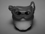 Angled backsot of LED Matrix Mask.