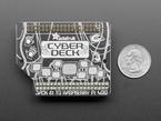 Top-down shot of Cyberdeck Bonnet PCB next to US quarter