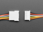 Topdown shot of 5-pin cable matching pair about to connect.