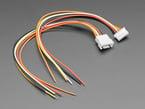 Angled shot of 5-pin cable matching pair.