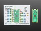 Diagram card next to a Raspberry Pi Pico board.