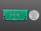 Back of 40-pin FPC to 2x20 Female Socket Header adapter PCB next to US quarter.