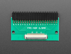 Top view of 40-pin FPC to 2x20 Right Angle Socket Header PCB.