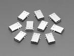 Photograph of 10 USB Type C SMT / THM Jack Connectors