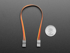 20cm long 3-pin 2.54mm pitch cable next to US quarter for scale.