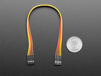 20cm long 4-pin 2.54mm pitch cable next to US quarter for scale.