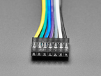 Close-up of 7-pin connector on cable.