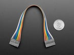 20cm long 9-pin 2.54mm pitch cable next to US quarter for scale.