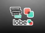 3 stickers featuring Microsoft, Lobe, and Machine learning.