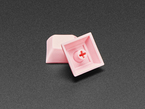 Detail of top and bottom of PINK DSA keycap