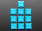Top  shot of 10 pack DSA color keycap Blue KIT