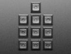 Top shot of 10 pack DSA color keycap Translucent Smoke KIT
