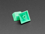 Detail of top and bottom of DSA keycap