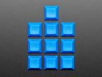 Top shot of 10 pack DSA color keycap Light DARK BLUE KIT
