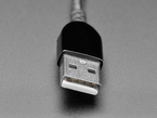Close-up of USB A connector.