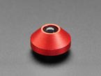 Single red aluminum rubber feet.