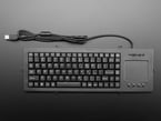 Top view of full length panel mount keyboard with trackpad.