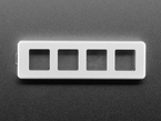 Top view of 4-Key Aluminum Keypad Shell in Silver.