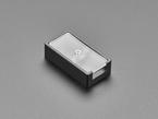 Reverse angled shot of 2-Key Aluminum Keypad Shell in Adafruit Black.