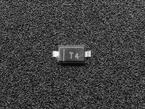 Macro close-up of single1N4148 diode.