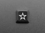 Top view of etched Zener Star R4 keycap.