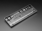 Angled shot of Black Metallic-Look Plastic GH60 / 60% Keyboard Shell.