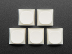 Top view of 5 milky white MA keycaps.