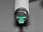 Angled close-up of sensor on disassembled enclosed sensor.