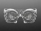 Top view of dragon eyeglass PCB.