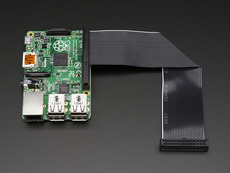 Downgrade GPIO Ribbon Cable for Raspberry Pi Model B+ 40p to 26p