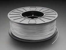 ABS Filament for 3D Printers - 1.75mm Diameter - Silver - 1KG