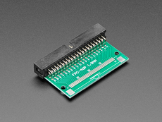 Angled shot of 40-pin FPC to 2x20 Right Angle IDC Header Adapter Board.
