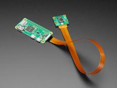 Raspberry Pi Zero FPC Camera Cable - 30cm long connected to a Pi zero and Pi camera
