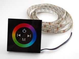 Capacitive Touch Wheel controller box for Analog RGB LED Strips