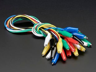 Bundle of Small Alligator Clip Test Leads