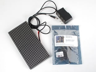 Kit contents for Nootropic RGB Matrix Backpack Kit + 16x32 Matrix Starter Pack.