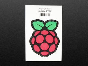 Sticker of a raspberry