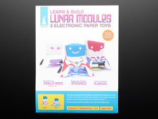 Packaging with Papertronics - Learn and Build Lunar Modules - 3 electronic papyer toys