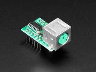 E1115 PS/2 Keyboard to TTL Serial Converter