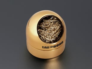Golden ball with round brass sponge