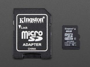 SD/MicroSD Memory Card (8 GB SDHC)
